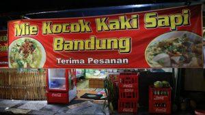 Kuliner kaki lima enak di Bandung, tempat makan mie kocok barokah