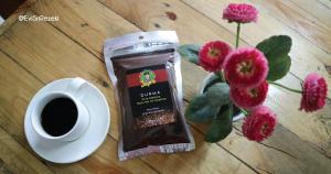 tempat ngopi murah di Bandung, Sajian kopi dan roasted bean Kedai Kopi Mang Japra