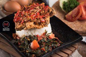 cafe Instagramable di Medan, Nasi ayam kangkung