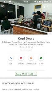 tempat ngopi murah di Bandung, Warung Kopi Dewa di Cari Aja