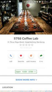 tempat ngopi murah di Bandung, 5758 Coffee Lab di Cari Aja