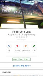pecel lele paling enak di Bandung, Pecel Lele Lela Bandung di Cari Aja
