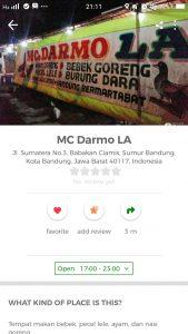 pecel lele paling enak di Bandung, Pecel Lele Mc Darmo La di Cari Aja