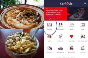 bubur ayam paling enak di Jakarta, Aplikasi Pencari Lokasi