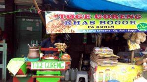 Gerobak Toge Goreng Pak Rohim, kuliner Suryakencana Bogor