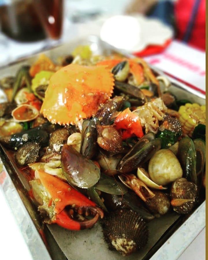 kuliner hits di Bandung, Seafood Kiloan Bang Bopak, Cari Makan Aja