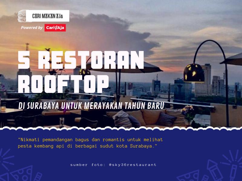 5 Restoran Rooftop di Surabaya Untuk Merayakan Tahun Baru